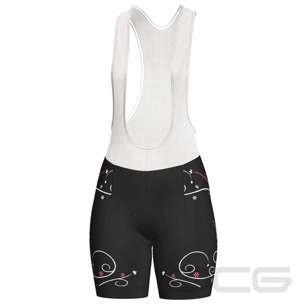 Women's Floral Swirl Pro-Band Cycling Bibs