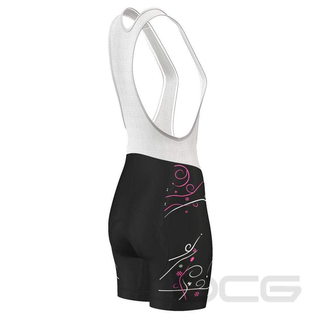 Women's Floral Swirl Pro-Band Cycling Bibs By Online Cycling Gear