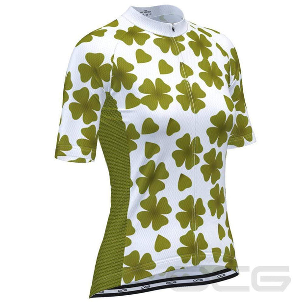Women's Four Leaf Clover Ireland Cycling Jersey By Online Cycling Gear