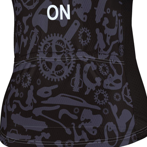 Women's Keep Calm and Ride On Short Sleeve Cycling Jersey By Online Cycling Gear