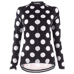 Women's Long Sleeve Polka Dot Jersey By Online Cycling Gear