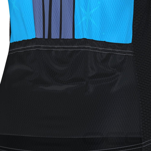 Women's Night Cat Blue Cycling Jersey By Online Cycling Gear