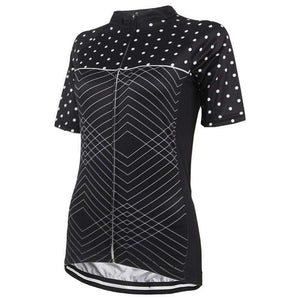 Women's Polka Dot Zigzag Cycling Jersey By Online Cycling Gear