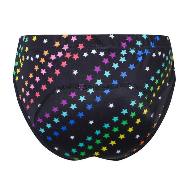 Women's Rainbow Star Padded Cycling Underwear By Online Cycling Gear
