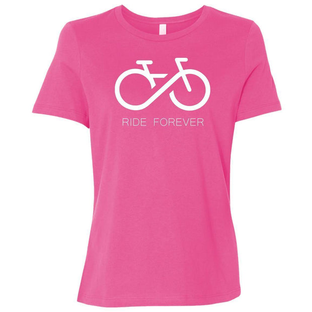 Women's Ride Forever Relaxed Fit T-Shirt By CustomCat