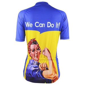 Women's Rosie the Riveter Cycling Jersey By Online Cycling Gear