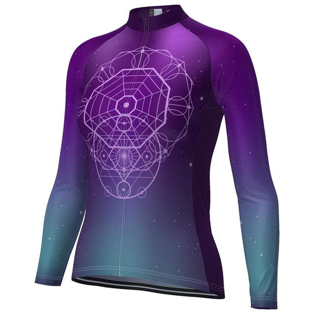 Women's Sacred Geometry Long Sleeve Cycling Jersey By OCG Originals