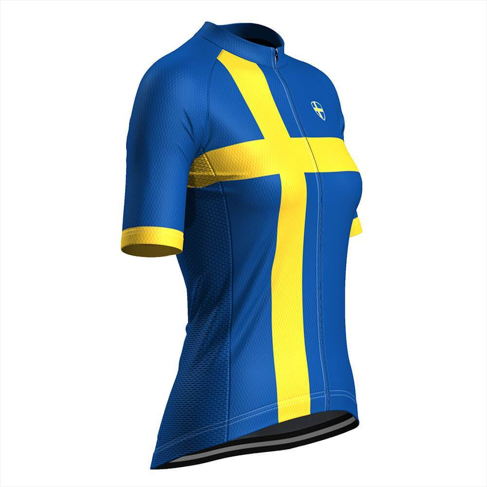 Women's Sweden Swedish Flag Cycling Jersey