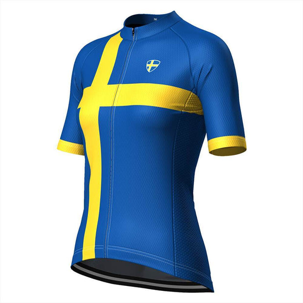 Women's Sweden Swedish Flag Cycling Jersey By OCG Originals