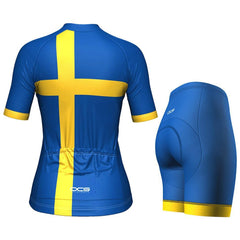 Women's Sweden Swedish Flag Pro-Band Cycling Kit By OCG Originals