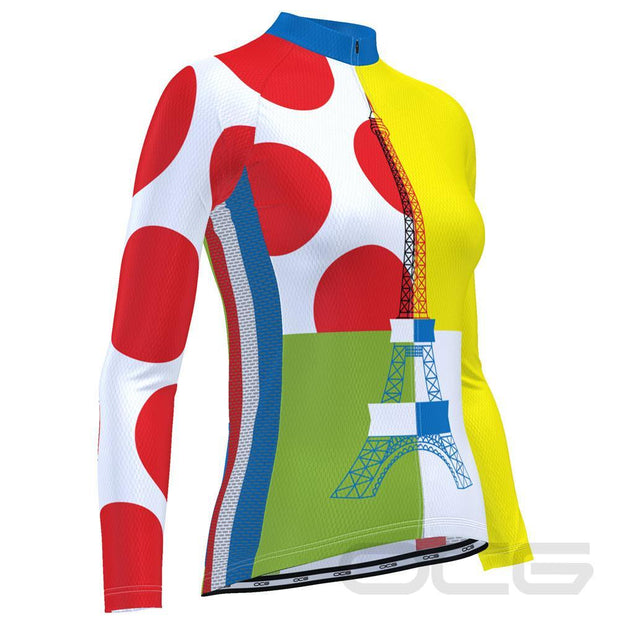 Women's Tour de France Leaders KOM Sprinters Long Sleeve Cycling Jersey By OCG Originals