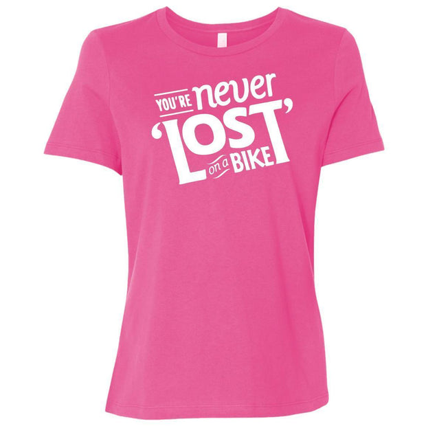 Women's You're Never Lost on a Bike Relaxed Fit T-Shirt By CustomCat