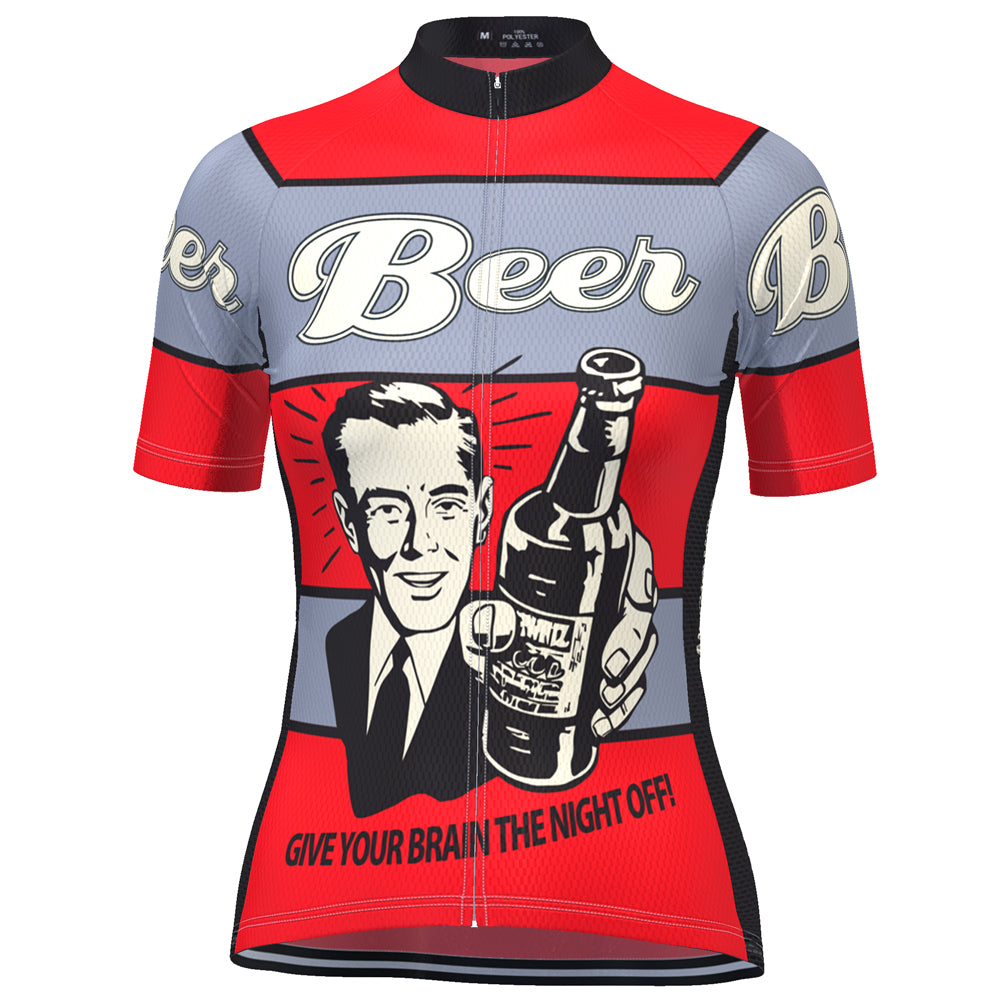 Women's Give Your Brain The Night Off Beer Cycling Jersey