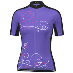Women's Floral Swirl Short Sleeve Cycling Jersey