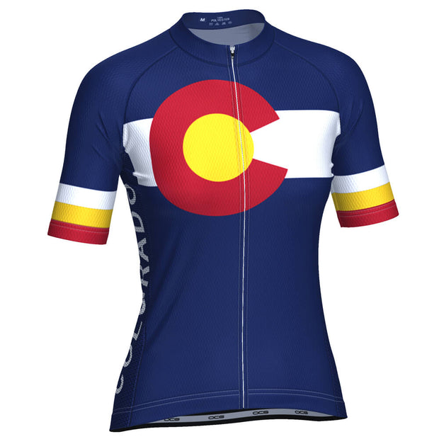 Women's Colorado USA State Short Sleeve Cycling Jersey