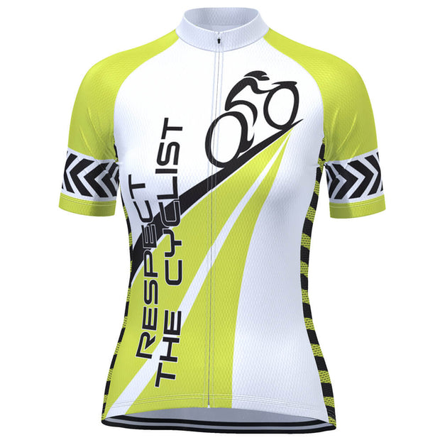Women's Respect the Cyclist Short Sleeve Cycling Jersey