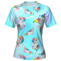 ORG Rainbow Unicorns Women's Technical Running Shirt