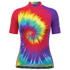 Women's Tie Dye Love & Peace Cycling Jersey
