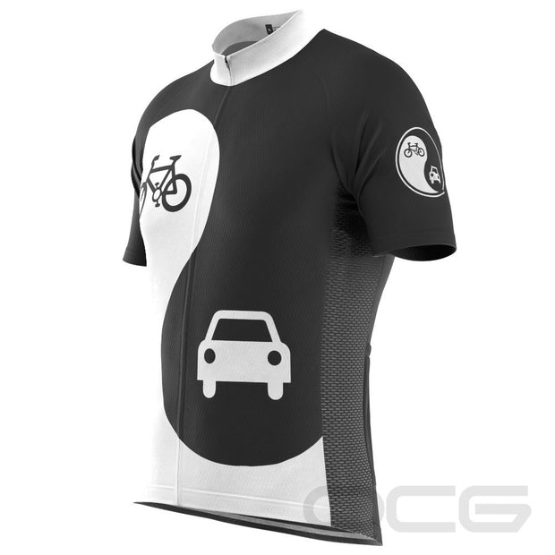 Men's Yin and Yang Coexist Short Sleeve Cycling Jersey