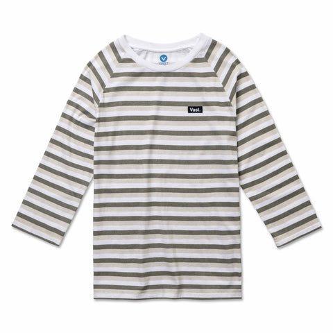 VAST - 3/4 STRIPE TEE (WHITE MULTI)