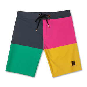 NEON BLOCK BOARD SHORTS