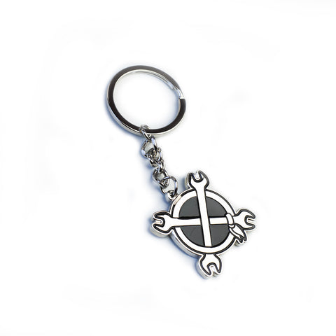 IN4MATION - CROSSWRENCHES KEYCHAIN (CHROME)