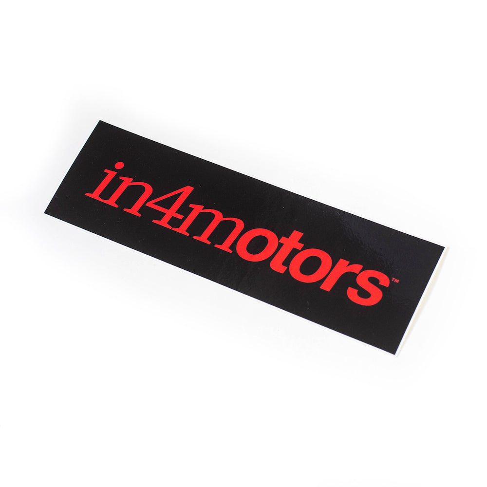 IN4MOTORS BUMPER STICKER (BLACK/RED)