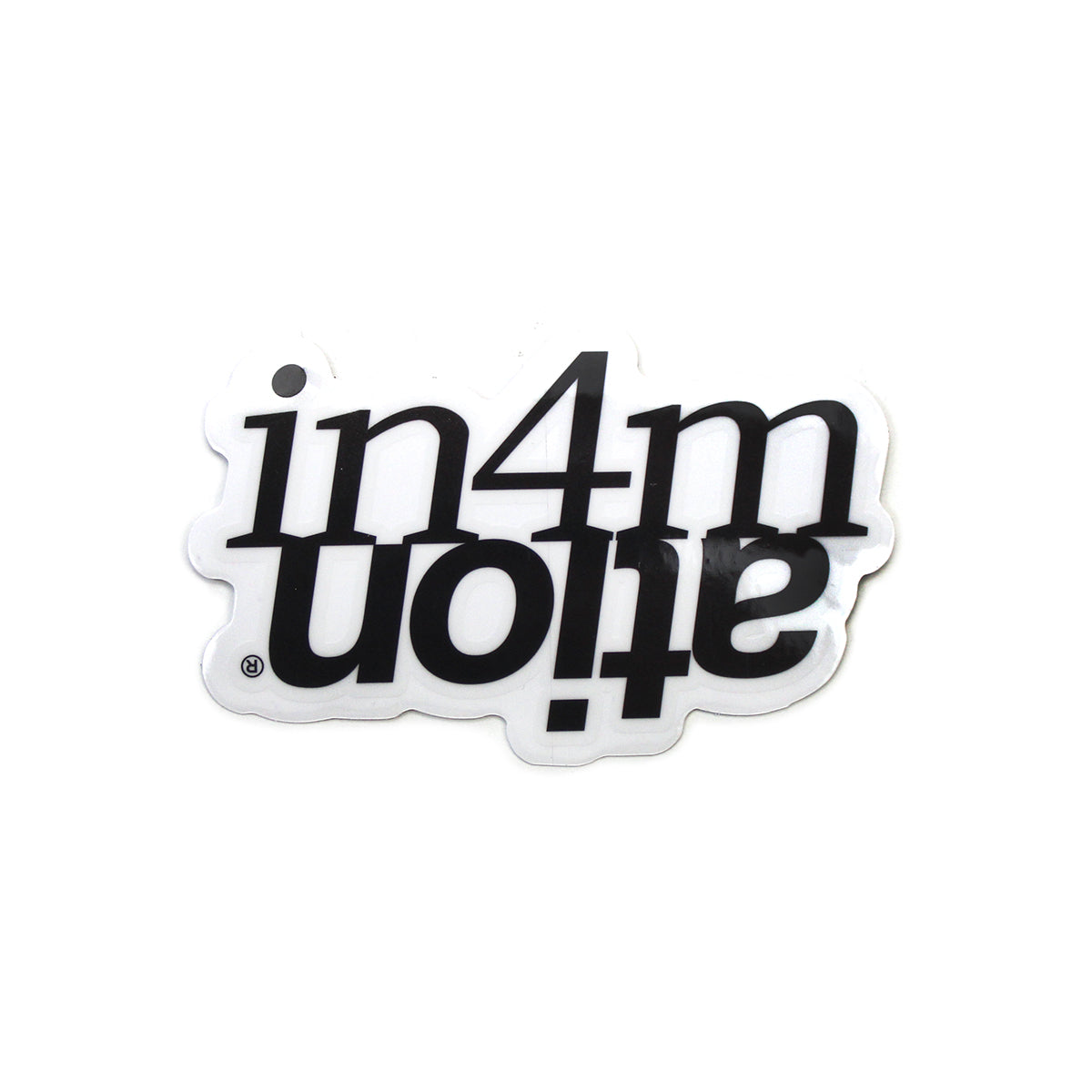 IN4MATION - ABOVE STANDARD BLACK/WHITE STICKER 3""