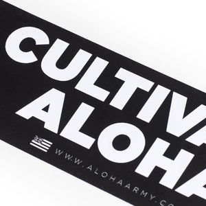 CULTIVATE ALOHA BUMPER STICKER (BLACK)