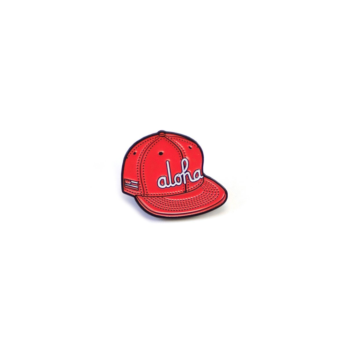 ALOHA ARMY-ALOHA SNAP PIN (RED)