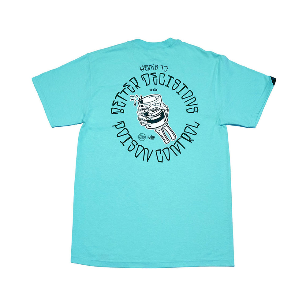 POISON CONTROL - BETTER DECISIONS TEE (ISLAND REEF)