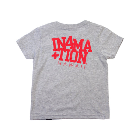 IN4MKIDS - COLLEGE HAWAII KIDS TEE (HEATHER/RED)