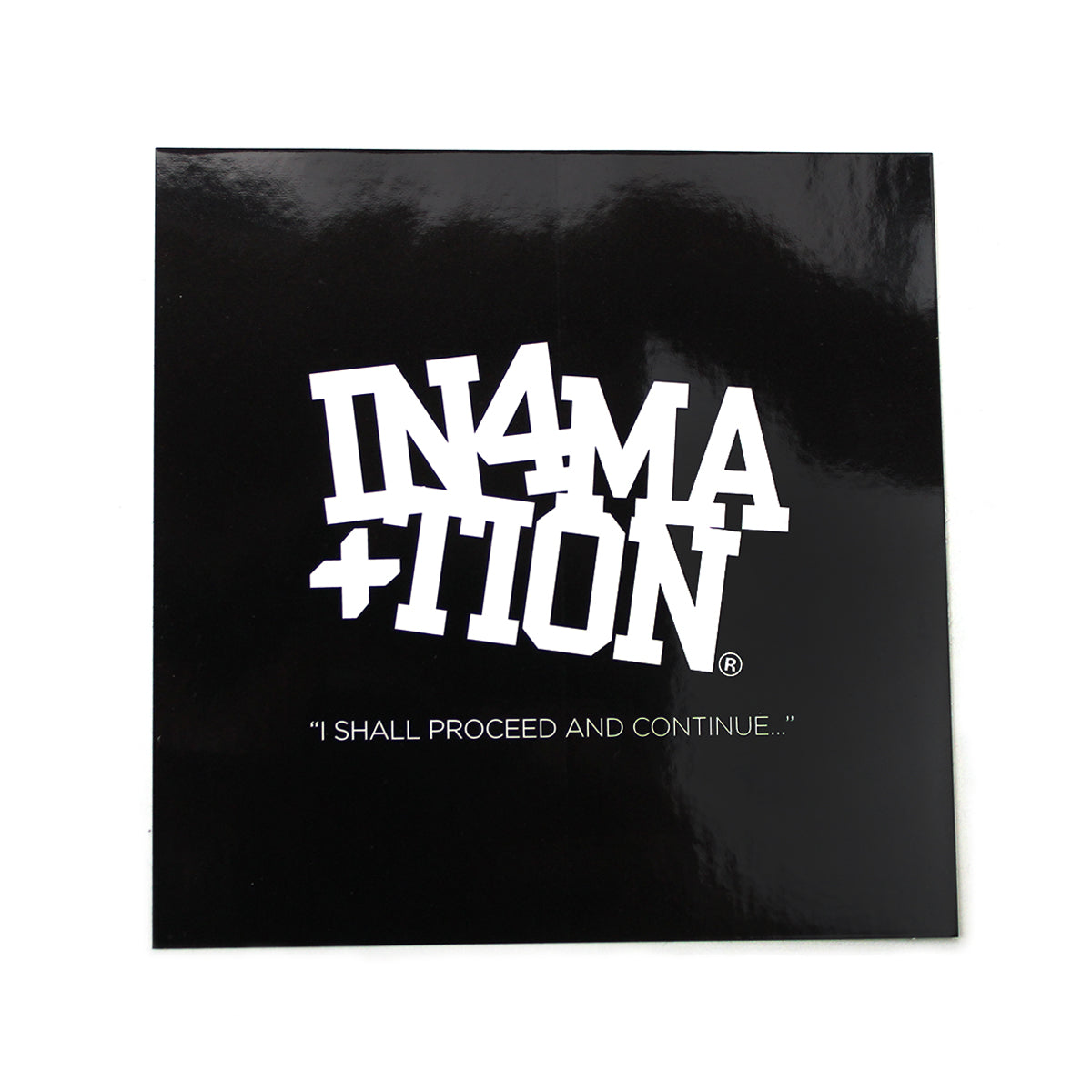 IN4MATION - COLLEGE BOX LOGO BLACK/WHITE STICKER 5""
