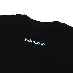 IN4MATION  - HI SCRIPT TEE (BLACK/TIFFANY)