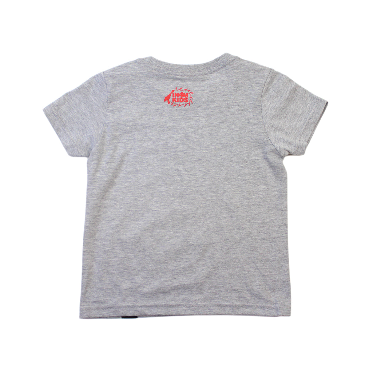 IN4MKIDS - HI SCRIPT KIDS TEE (GRAY/RED)