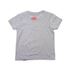 IN4MKIDS - HI SCRIPT KIDS TEE (GRY/RED)