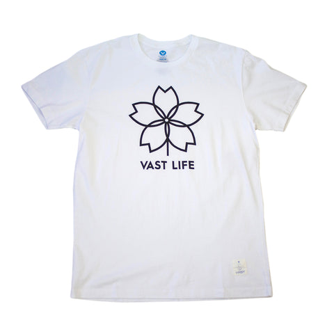 VAST-VS SAKURA TEE (WHT)