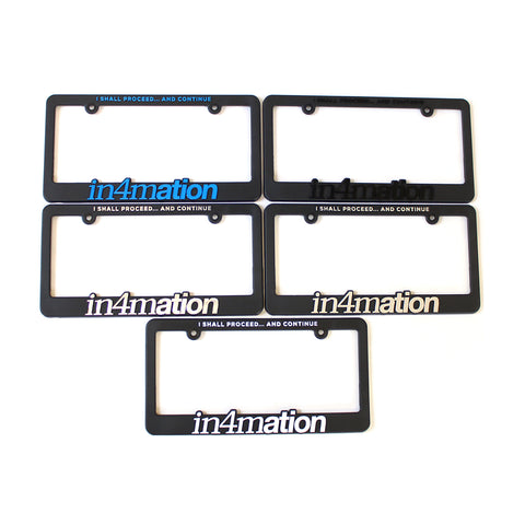 IN4MATION - NEW STANDARD LICENSE PLATES