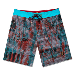 VAST - ISLAND TEXTURE (RED MULTI) - SURFSHORTS