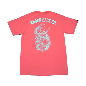 POISON CONTROL - KNOCK BACK CO TEE (SALMON)