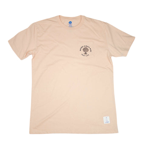 VAST - NATURE STAMP TEE (PEACH)