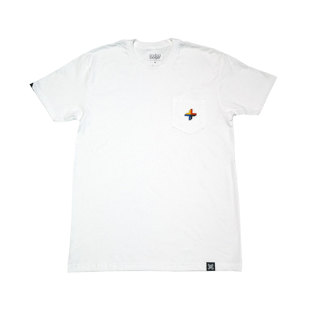 POSITIVES EMBROIDERED POCKET TEE (WHITE)