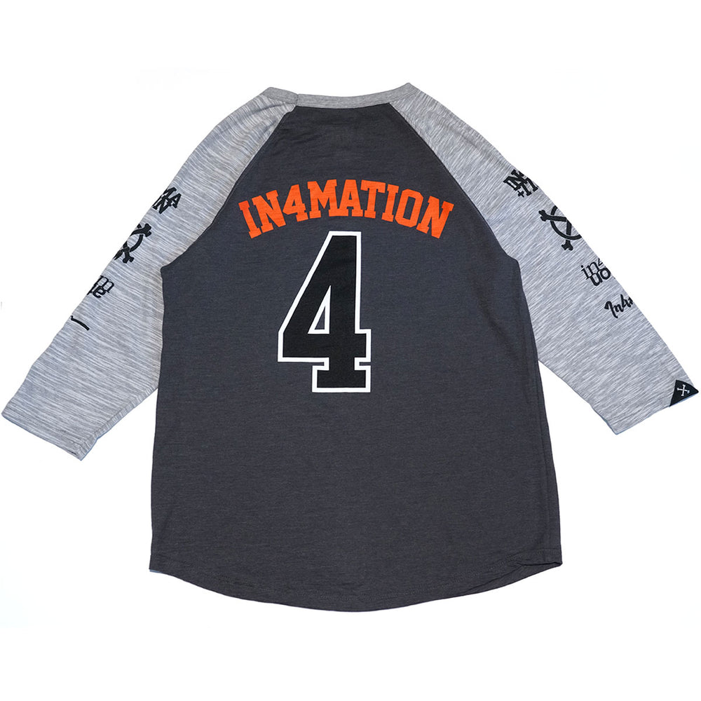 PROCEED CHAMPION RAGLAN (OXFORD GREY/BLACK)