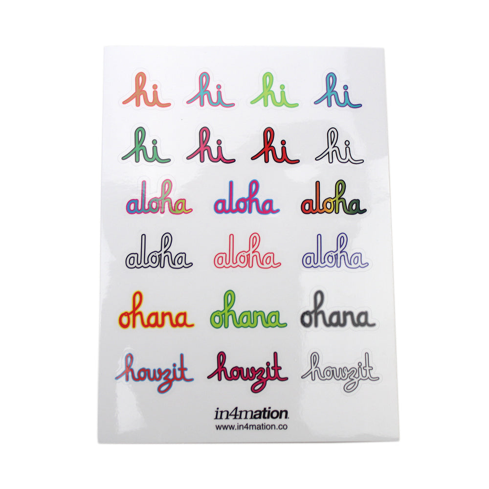 SCRIPT STICKER SHEET