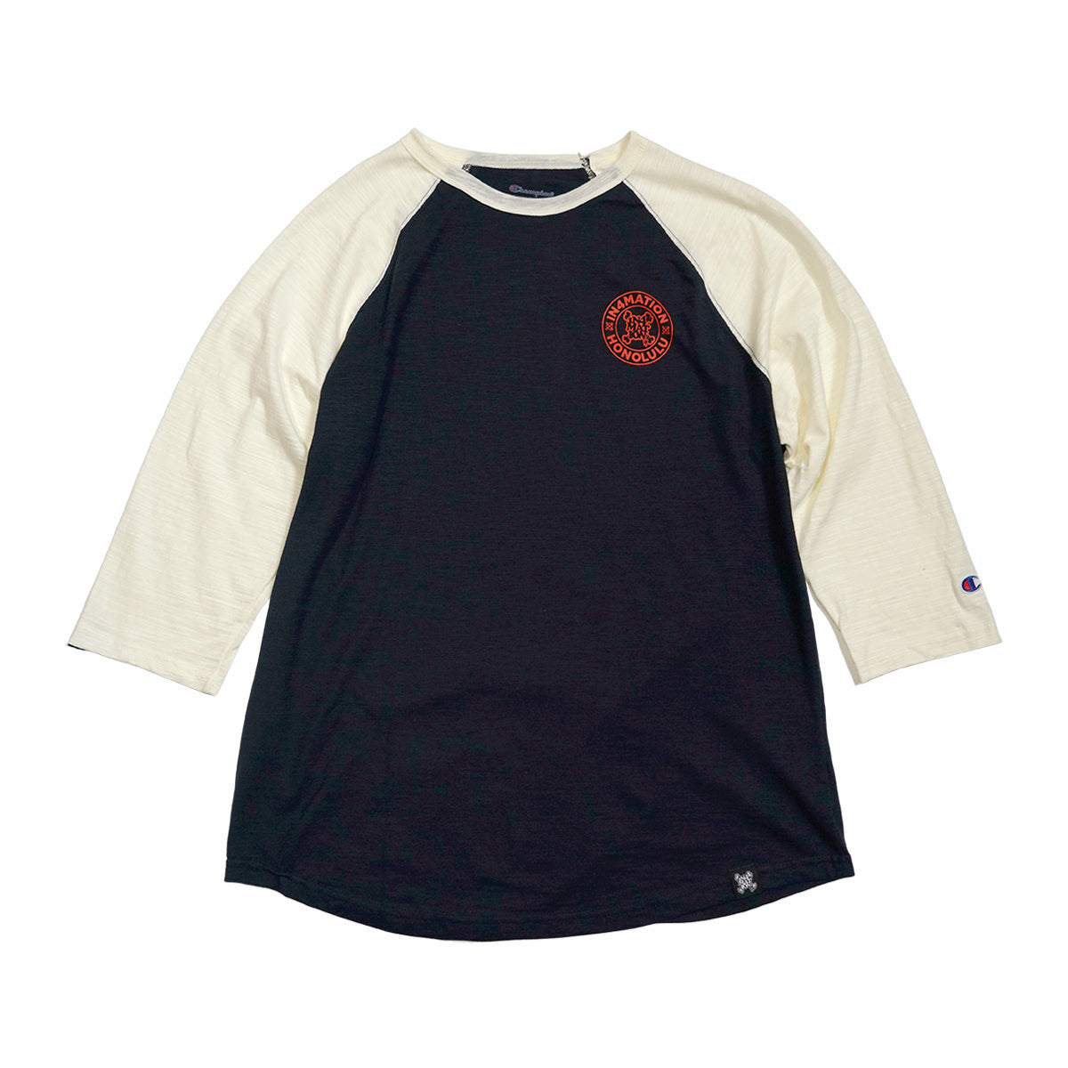 IN4MATION  - STAMPED CHAMPION RAGLAN (NAVY/CHALK)
