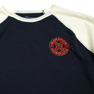 STAMPED CHAMPION RAGLAN (NAVY/CHALK)