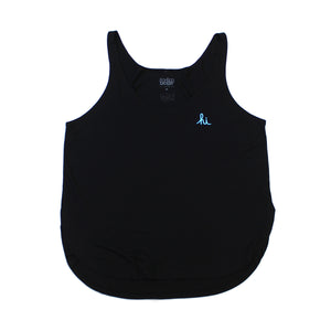 WOMENS MINI HI TANK TOP (BLACK/BABY BLUE)