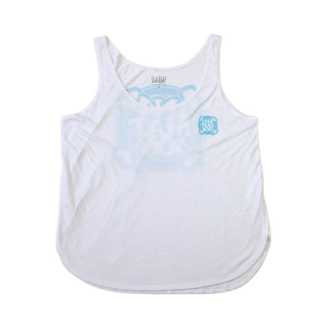 IN4MGIRLS - FYI TANK TOP (WHITE/LT BLUE)