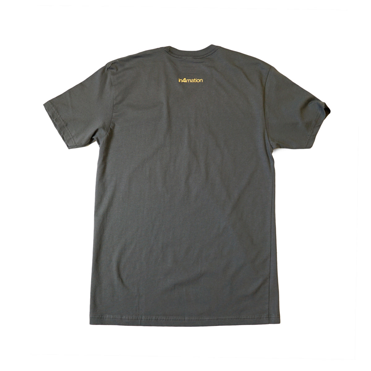 IN4MATION - HI SCRIPT TEE (HEAVY METAL/A'S GOLD)