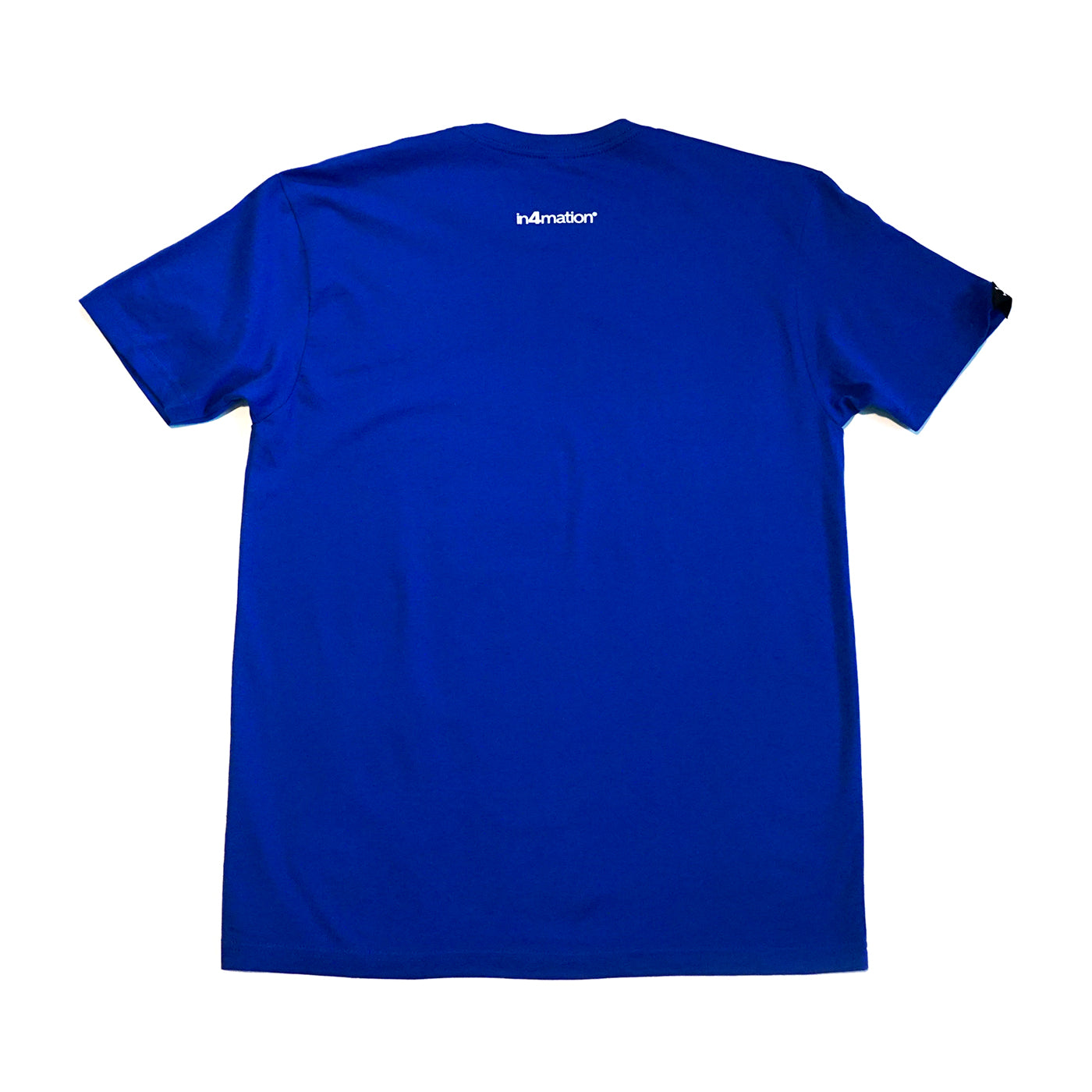 IN4MATION  - HI SCRIPT TEE (ROYAL/WHITE)